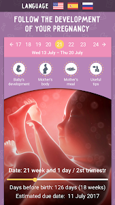 screenshot of Pregnancy Calculator and Tracker app version 2.6.1