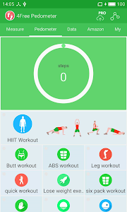 screenshot of Free Pedometer version 2.6.0