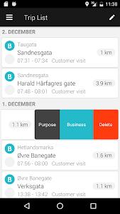 screenshot of ABAX Triplog - Mileage claim version 4.2.79