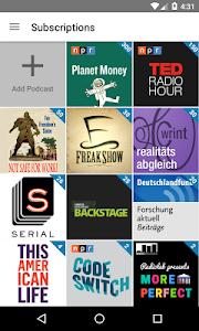 screenshot of AntennaPod version 1.7.1