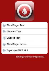 screenshot of Blood Sugar Test Premium version 2.6
