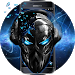 Download Blue Tech Metallic Skull Theme 1.1.1 APK