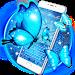 Download Blue glitter neon Butterfly keyboard 10001003 APK