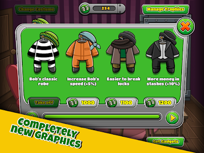 screenshot of Bob The Robber 4 version 1.18
