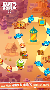 screenshot of Cut the Rope 2 version 1.6.5