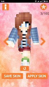 screenshot of Cute Girl Skins for MCPE version 1.5