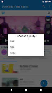 screenshot of Download Video Social version 1.0