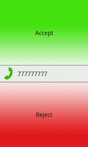 screenshot of Driving Call Screen version 0.1.2