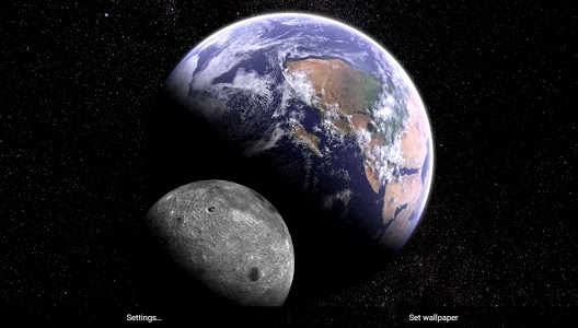 Download Earth & Moon in HD Gyro 3D Parallax Live Wallpaper 2.4 APK