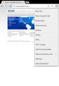 screenshot of Epson Print Enabler version 1.0.9