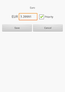 screenshot of Exchange rate. All currencies (Currency converter) version 4.41