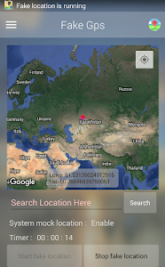 screenshot of Fake Location (Mock GPS) version 5.2.1