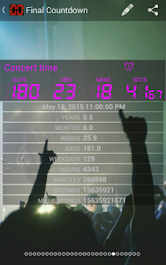 screenshot of Final Countdown - Widget version Varies with device