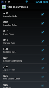 screenshot of Forex Factory Calendar version 1.11.0