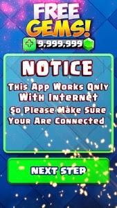 screenshot of Free Gems For Clash Royale - Joke version 10.0