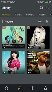 screenshot of GO Music Player PLUS version 1.0.2