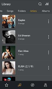 screenshot of GO Music Player PLUS version 1.2.0