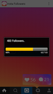 screenshot of Get Insta Followers simulator version 1.0