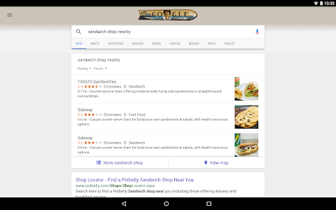 screenshot of Google version 6.7.21.16.arm