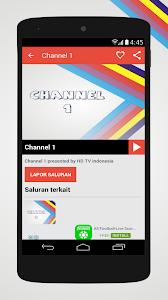 screenshot of HD TV Indonesia version 1.0