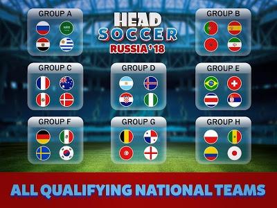 screenshot of Head Soccer Russia Cup 2018: World Football League version 4.1.1