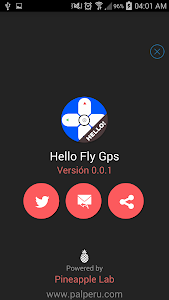 screenshot of Hello FlyGPS version 1.0.4