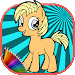 Download How To color My Little Pony kids coloring game 1.0 APK