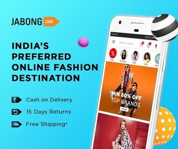 screenshot of Jabong Online Shopping App version 5.4.0