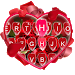 Download Keyboard - Red Rose Petals New Theme 6.0 APK