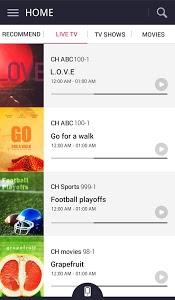 screenshot of LG TV Plus version 2.0.2