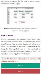 screenshot of Learn Excel Formulas version 1.5