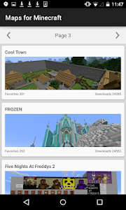 screenshot of Maps for Minecraft version 1.0.8