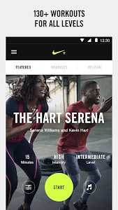 screenshot of Nike+ Training Club version 5.3.1