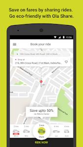 screenshot of Ola. Get rides on-demand version 4.7.8