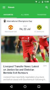 screenshot of Onefootball Live Soccer Scores version 9.2.0