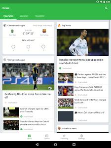 screenshot of Onefootball Live Soccer Scores version 10.5.1.317