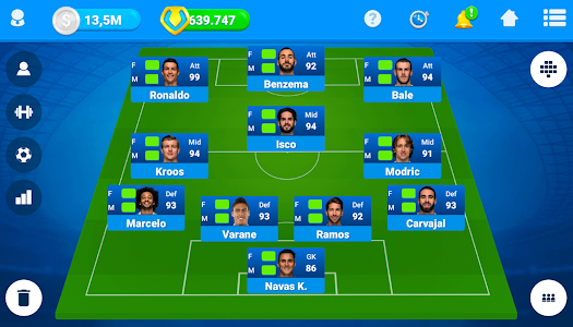 screenshot of Online Soccer Manager (OSM) version 3.4.05