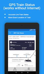 screenshot of Live Train Status, PNR Status & Train Tickets version 3.5.3