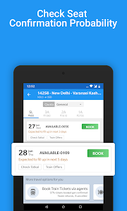 screenshot of Live Train Status, PNR Status & Indian Rail Info version 3.6.1