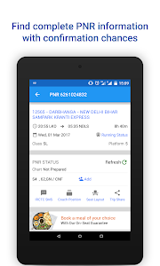 screenshot of PNR Status & Indian Rail Info version 3.2.1