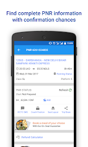 screenshot of PNR Status & Indian Rail Info version 3.1.8