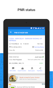 screenshot of PNR Status & Indian Rail Info version 3.0.9