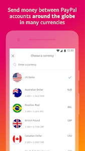 screenshot of PayPal Mobile Cash: Send and Request Money Fast version 7.3.1