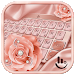 Download Pink Rose Gold Diamond Drops Keyboard Theme 6.8.30.2018 APK