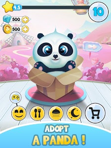screenshot of Pu - Cute giant panda bear, baby pet care game version 1.18
