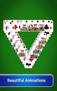 screenshot of Pyramid Solitaire version 3.4.1.2318
