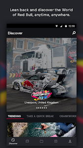 screenshot of Red Bull TV: Live Sports, Music & Entertainment version 4.4.7.13