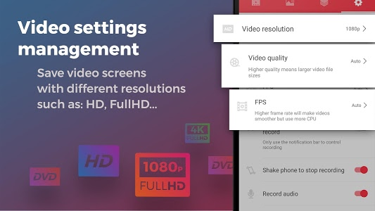 screenshot of Screen Recorder With Audio And Editor & Screenshot version 1.0