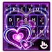 Download Sparkling Purple Heart Keyboard Theme 6.8.18.2018 APK