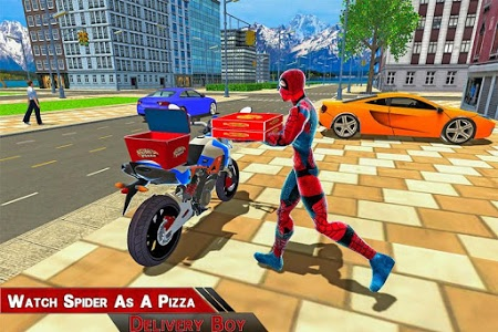 Download Super Spider Hero Pizza Delivery 1.0 APK